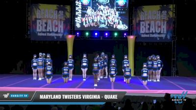 Maryland Twisters Virginia - Quake [2021 L5 Senior - Large Day 2] 2021 ACDA: Reach The Beach Nationals