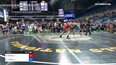 285 lbs Cons 16 #2 - Harrison Diffley, Missouri vs Coy Trainor, Wyoming