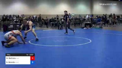79 kg Prelims - Michael Battista, Cavalier Wrestling Club vs Nelson Brands, Hawkeye Wrestling Club