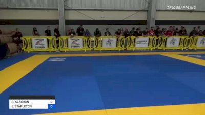 RICHARD ALACRON vs JOHN STAPLETON 2021 Pan IBJJF Jiu-Jitsu No-Gi Championship