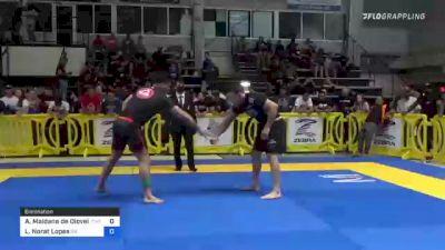 Arnaldo Maidana De Oloveira vs Lucas Norat Lopes 2021 Pan IBJJF Jiu-Jitsu No-Gi Championship