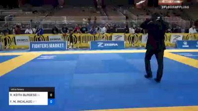 ROBERT KEITH BURGESS vs FABIO M. INCALADO 2020 World Master IBJJF Jiu-Jitsu Championship