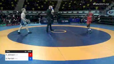 72 kg Semifinal - Xavier Johnson, Marines vs Griffin Parriott, Minnesota