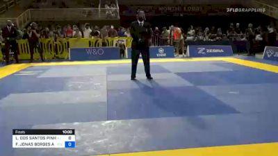 LUCAS DOS SANTOS PINHEIRO vs FRANCISCO JONAS BORGES ANDRADE 2020 Pan Jiu-Jitsu IBJJF Championship
