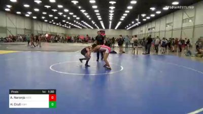 106 lbs Final - Ashley Naranjo, Ascend Wrestling Academy vs Heather Crull, Northeastern