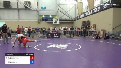 74 kg 5th Place - Taleb Rahmani, Pittsburgh Wrestling Club vs Justin Thomas, Oklahoma