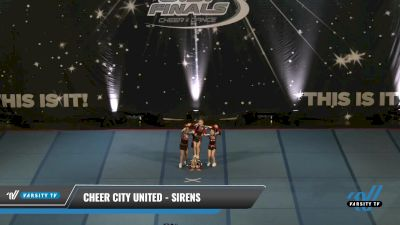 Cheer City United - SIRENS [2021 L1.1 Tiny - PREP Day 2] 2021 The U.S. Finals: Pensacola