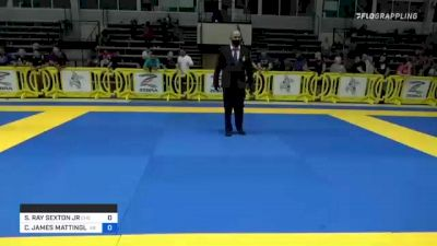 SIDNEY RAY SEXTON JR vs CHRISTOPHER JAMES MATTINGLY 2021 Pan IBJJF Jiu-Jitsu No-Gi Championship