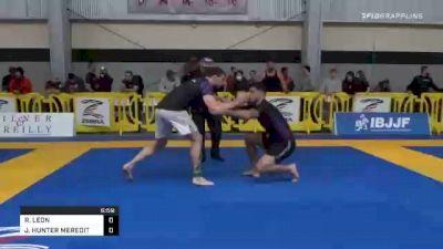 RAMIRO LEON vs JOSHUA HUNTER MEREDITH 2020 American National IBJJF Jiu-Jitsu Championship