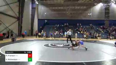 60 lbs Consolation - Riley Frierson, Roundtree Wrestling Academy vs Gage Richardson, Savannah Wrestling Center