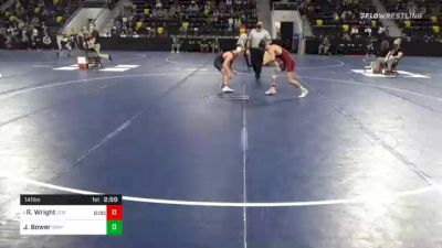 141 lbs Prelims - Riley Wright, Coe College vs Josh Bower, Simpson College