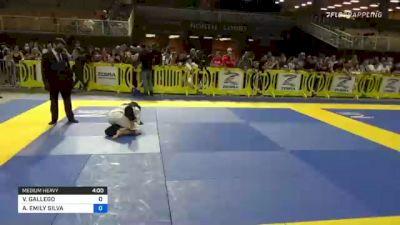 VALERIA GALLEGO vs ARIANA EMILY SILVA 2021 Pan Kids Jiu-Jitsu IBJJF Championship