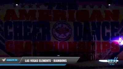 Las Vegas Elements - Rainbows [2021 L1 Mini - D2 Day 2] 2021 The American Celebration DI & DII