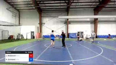 152 lbs Consolation - John McGowan, Rhino Wrestling vs Alexander Quintano, Shore Thing WC