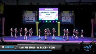 FAME All Stars - VA Beach - VIXENS [2021 L3 Senior - Small Day 1] 2021 ACDA: Reach The Beach Nationals