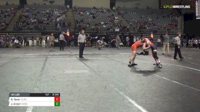 141 lbs Consi of 8 #2 - Ralph Tovar, Clackamas vs John Arceri, Nassau