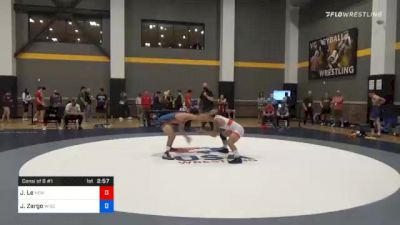 65 kg Consolation - Jaden Le, New York City RTC vs Joseph Zargo, Wisconsin Regional Training Center