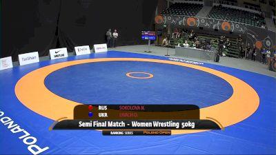 50kg Semi-Final - Oksana Livach, UKR vs Nadezhda Sokolova, RUS