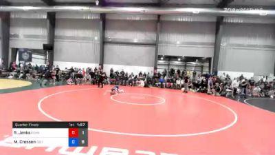 38 kg Quarterfinal - Randall Jenks, Poway Elite vs Mac Crosson, Sebolt Wrestling Academy