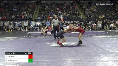 125 lbs Consolation - Tommy Dineen, SIUE vs Beau Bayless, Harvard