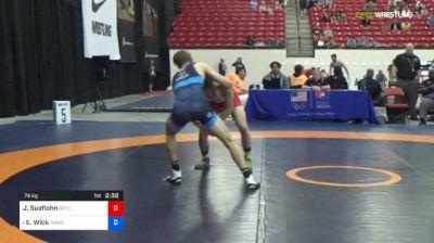 74 kg Rnd Of 16 - Jake Sueflohn, Boilermaker RTC vs Evan Wick, TMWC/ University Of Wisconsin
