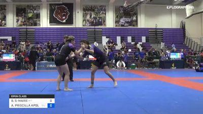 BRIANNA STE-MARIE vs ANDREA PRISCILLA APOLO 2019 Pan IBJJF Jiu-Jitsu No-Gi Championship