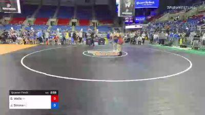 182 lbs Quarterfinal - Garrett Wells, Oklahoma vs Jared Simma, Kansas