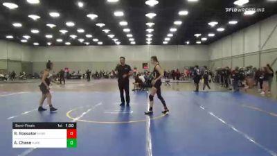 123 lbs Semifinal - Regan Rosseter, Nebraska Wrestling Academy vs Annabell Chase, Hurricane Wrestling Academy
