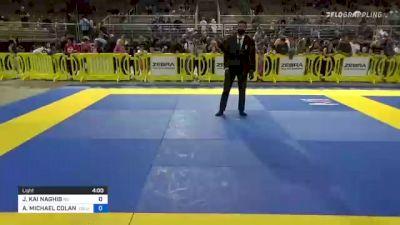 JALAL KAI NAGHIB vs ANTHONY MICHAEL COLANTUONO 2021 Pan Kids Jiu-Jitsu IBJJF Championship