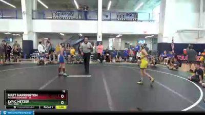72 lbs Round 7 (8 Team) - Matt Harrington, Aces Of Diamonds vs Lyric Hetzer, Team Ohio