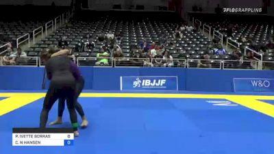 PAIGE IVETTE BORRAS vs CHRISTINA N HANSEN 2021 World IBJJF Jiu-Jitsu No-Gi Championship
