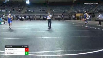 141 lbs Consolation - Blake Gonzalez, Northeastern Oklahoma vs Jacob Mitchell, Pratt