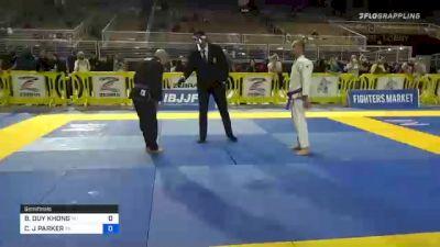 BAOVY DUY KHONG vs CHRISTOPHER J PARKER 2020 World Master IBJJF Jiu-Jitsu Championship
