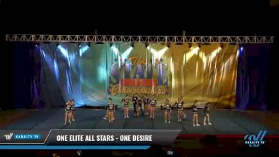 One Elite All Stars - One Desire [2021 L3 Senior Coed - D2 Day 2] 2021 The STATE DI & DII Championships