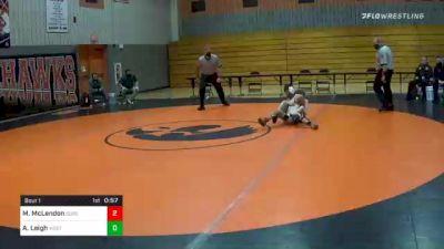 106 lbs Quarterfinal - Mason McLendon, Susquenita vs Ashtyn Leigh, West Perry