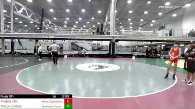 113 lbs Rr Rnd 1 - Peyton Ellis, Mayo Quanchi/coventry High School vs Marco Cartella, Western Reserve Academy
