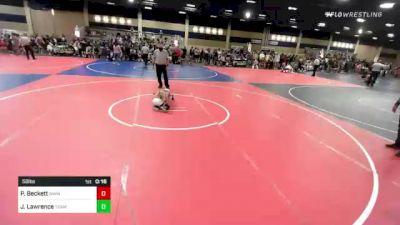 58 lbs 2nd Place - Preston Beckett, Nwwc vs Julian Lawrence, Team Aggression