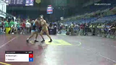 126 lbs Consi Of 8 #1 - William Baysingar, Illinois vs Teegan Vasquez, Montana