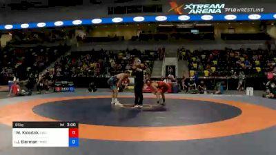 65 kg Quarterfinal - Matthew Kolodzik, New York Athletic Club vs Jaydin Eierman, TMWC / Hawkeye Wrestling Club