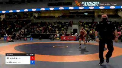 65 kg Quarters - Matthew Kolodzik, New York Athletic Club vs Jaydin Eierman, TMWC / Hawkeye Wrestling Club