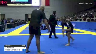 AJ AGAZARM vs MAX DOS SANTOS GIMENIS 2021 World IBJJF Jiu-Jitsu No-Gi Championship