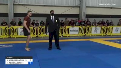 JOAO ARAUJO SILVA DA COSTA vs NATHAN ALAN HADDAD 2021 Pan IBJJF Jiu-Jitsu No-Gi Championship