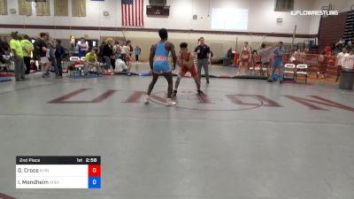 160 lbs 2nd Place - Greg Croce, Rhino Wrestling vs Ibrahim Mendheim, Apex