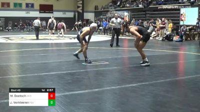 149 lbs Quarterfinal - Michael Doetsch, Maryland vs Jarod Verkleeren, Penn State