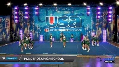 Ponderosa High School [2020 Super Varsity Show Cheer Intermediate (21-36) Day 1] 2020 USA Spirit Nationals