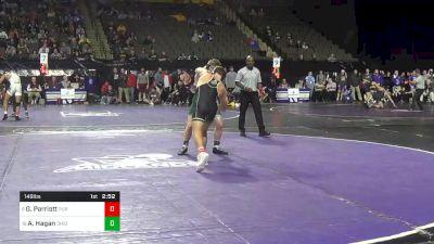 149 lbs Consolation - Griffin Parriott, Purdue vs Alec Hagan, Ohio