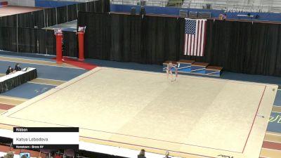 Katya Lebedeva - Ribbon - 2021 Rhythmic Elite Qualifier