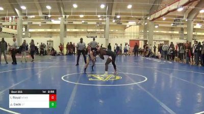 Quarterfinal - Isiah Royal, Newberry vs Jacob Dado, The Citadel