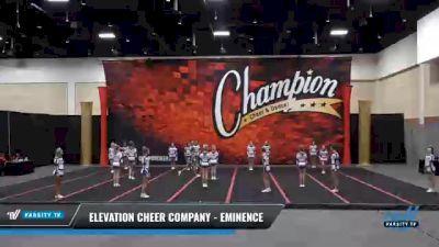 Elevation Cheer Company - Eminence [2021 L3 Senior] 2021 Wolfpack Championship