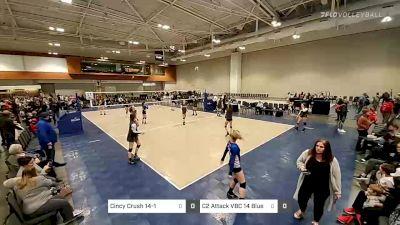 Cincy Crush 14-1 vs C2 Attack VBC 14 Blue Smac - 2020 Music City Championships